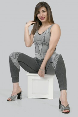 Grey one piece